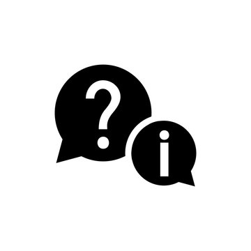 help vector icon, question icon in trendy flat design