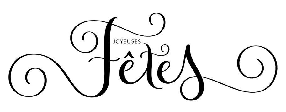 Calligraphie vecteur JOYEUSES FETES