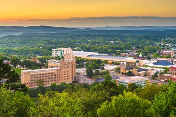 Fototapete - Hot Springs, Arkansas, USA town skyline