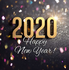 Joyful New Year 2020 Greeting card