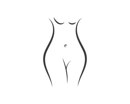 woman body vector illustration icon design