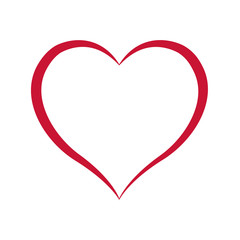 love shape heart design vector line can for valentine ,wedding