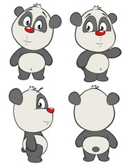 Foto auf Leinwand Babyzimmer Vector Illustration of a Cute Cartoon Character Panda for you Design and Computer Game