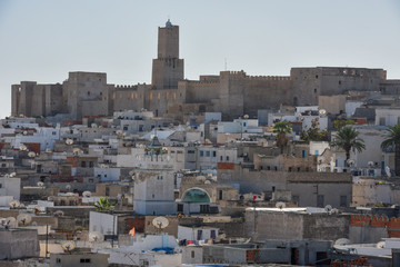 View at the traditional medina of Sousse in Tunisia