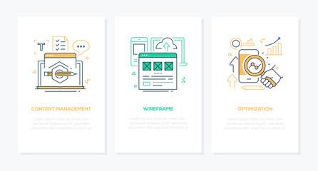 Web development - line design style banners set
