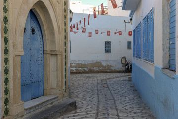 Traditional architecture of the medina at Sousse in Tunisia