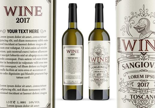 Vintage Wine Label Layout