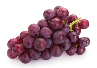 Fototapete - Fresh red grape isolated on white background