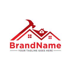 Home repair construction logo icon. Home service design logo illustration.