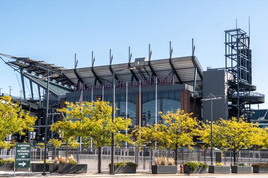 USA, PHILADELPHIA, OCTOBER 2019: Lincoln Financial Field in Philadelphia state of Pennsylvania.