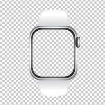 Realistically mockup watch background and screen png .