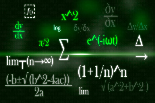 abstract background of mathematical formulas