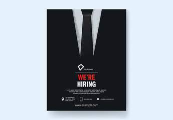 Hiring Call Flyer with Retro Suit Layout