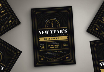 New Year Celebration Flyer Layout
