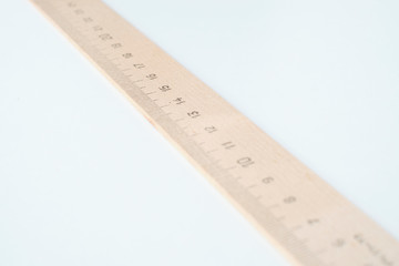 Old wooden ruler for the school.
