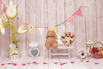 Backdrops for celebration of 1 year baby, boy & girl, smash the cake photo sessions