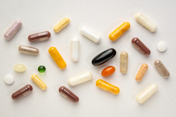 vitamins and supplements background