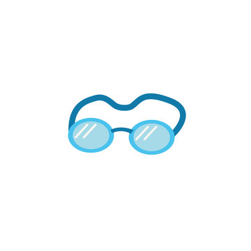 swimming goggles flat style icon