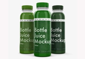 3 Plastic Bottle Mockups