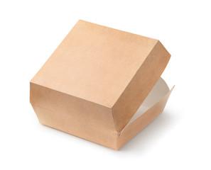 Open empty blank burger box
