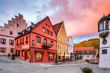 Fussen, Germany. Old townscape.