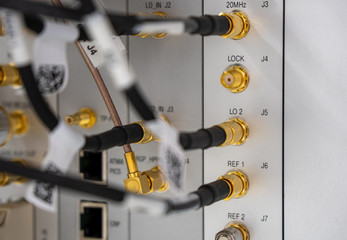 electrical control panel of an industrial machine