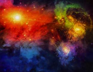 Fototapete - Deep Space Painting