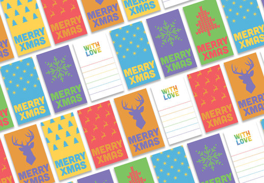 Colorful Gift Tag Layouts
