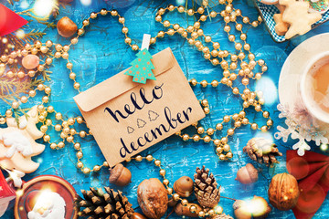 hello december holidays design CARD