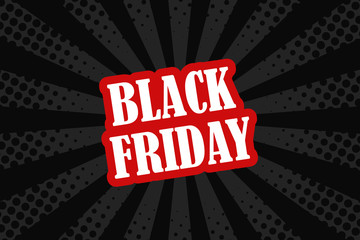 Vector comic book style background for Black Friday