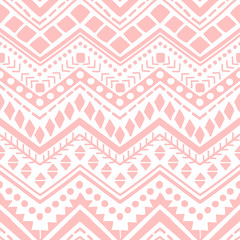 Vector seamless ethnic pattern. Hand drawn print for fabric, textile, wallpaper