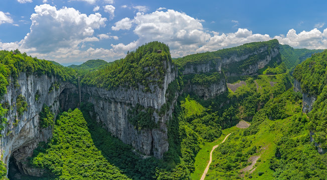 Valley panorama in Wulong National Park