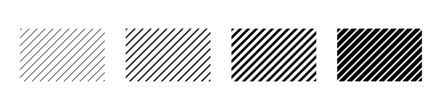 Set of diagonal line in abstract style. Vector grid geometric template. Abstract repeat background. Stripes pattern.