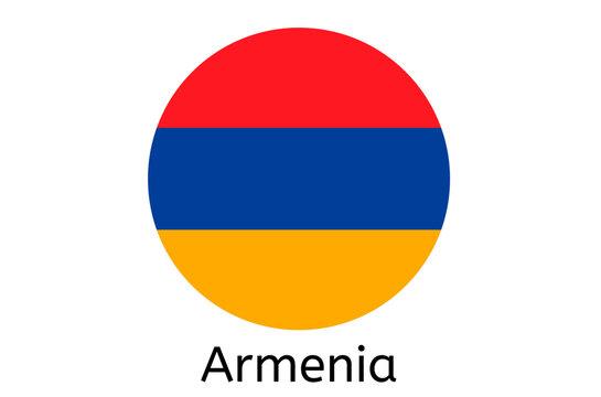 Armenian flag icon, Armenia country flag vector illustration
