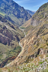 Colca canyon, one of the deepest in the world. Peru