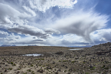 Incredible rocky landscape in the Peruvian highlands