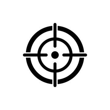target aim icon, focus icon vector design symbol