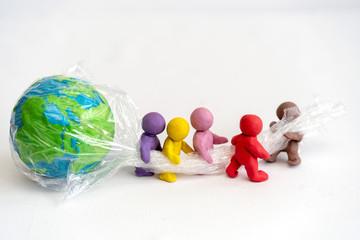 Die Welt in Plastik