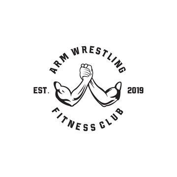 arm wrestling logo concept inspiration, vector eps 10