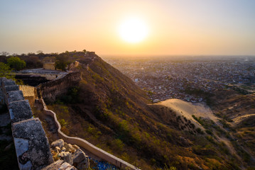 Cadres-photo bureau Cote Sunset view of Jaipur from Nahargarh Fort