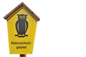 Naturschutz Schild freigestellt