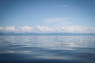 clouds over lake Baikal