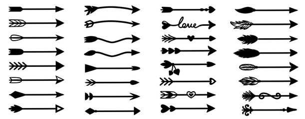 Arrow. Arrow hand drawn. Arrow hand drawn vector.