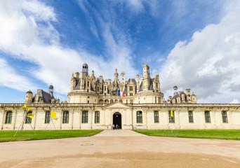 Entrance Chateau de Chambord in Loire valley, Centre Valle de Loire in France