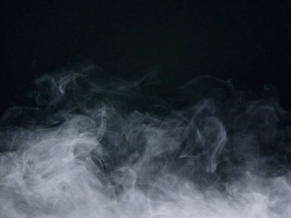 Fotobehang Rook smoke on black background