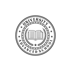 vintage university logo, icon and template