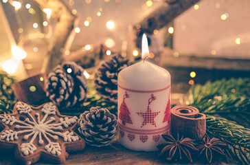 1st. christmas decoration with candle