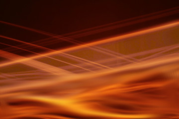 Orange abstract dynamic lines design copy space background