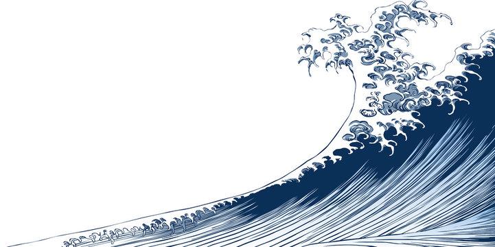 浮世絵 波 その1