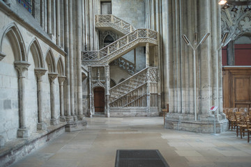 Fotomurales - Interior Halls and Architecture of the Rouen Cathedral